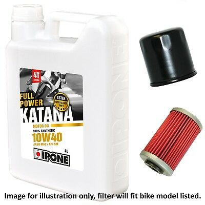 Yamaha XJ 550 J Maxim 1982 Ipone Katana 10w40 Oil and Filter Kit