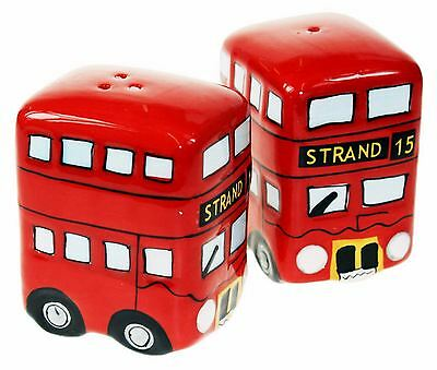 Routemaster Bus Salt Pepper Set Novelty Ceramic London Classic Kitchen Fun Gift