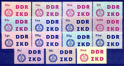 DDR Germany ,OFFICIALS-C: Michel 1-15 set complete, MNH. SC. and SG. not listed