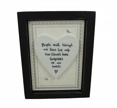East of India True Friends Leave Footprints On Our Hearts Print - Special Friend