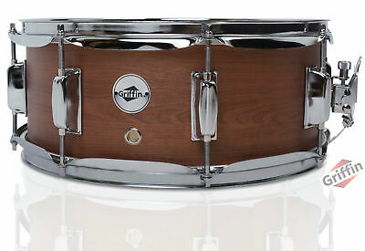 """Griffin 14"""" Snare Drum – Hickory 14x5.5 Poplar Wood Shell Percussion Kit Set"""