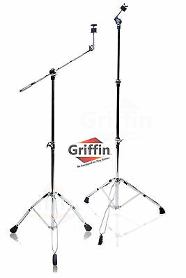 2 Pack Cymbal Boom Stand Straight Drum Hardware Percussion Holder Mount Griffin