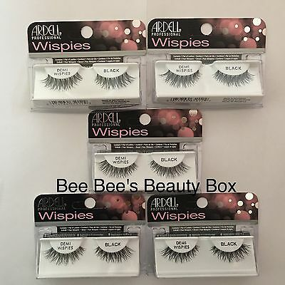 Ardell Demi Wispies Black *** 5 Packs *** Natural False Lashes Eyelashes