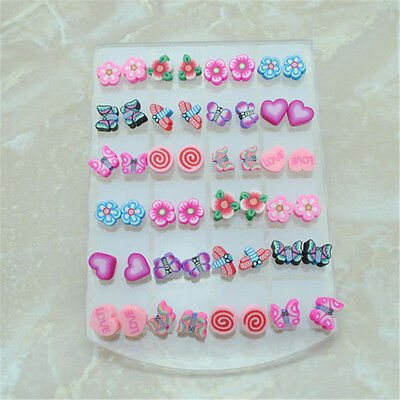 Wholesale Lots 24 Environmental Free Non-toxic Clay Candy Children Earring Stud