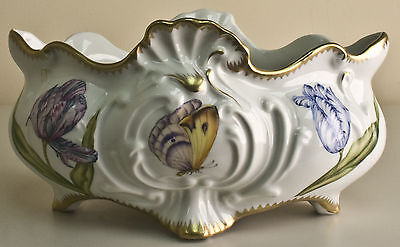 Anna Weatherley Tulips scrolled cache pot 763