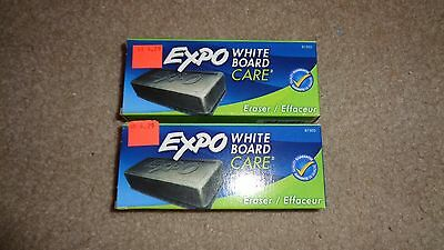 Lot 2 EXPO Dry Erasers White Board Care Eraser 5 1/8x1 1/4 (81505) Free Shipping