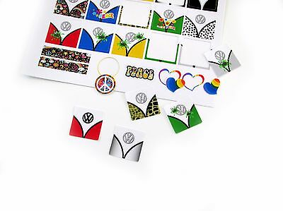 CUSTOM STICKERS for VW MINI BUS/KOMBI POLYBAG Lego 40079 with lots of customs