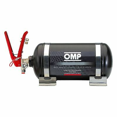 OMP Black Collection Mechanical Steel Bottle Fire Extinguisher System - 2.8 Ltr