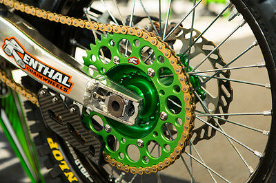 Renthal Chain And Green Sprocket Kit KX KXF 125 250 450 500 85-2021 Motocross