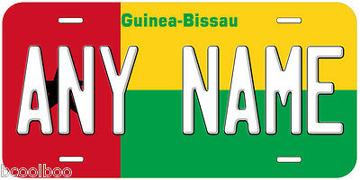 Guinea-Bissau Flag Novelty Car License Plate