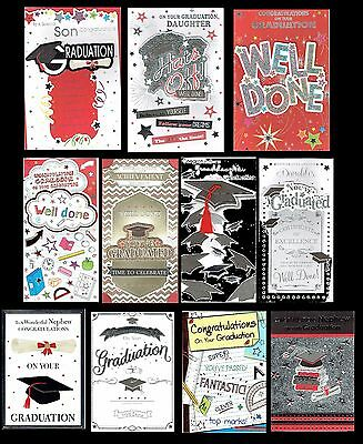GRADUATION ~ Well Done ~ Congratulations Card ~ Great Selection to choose from