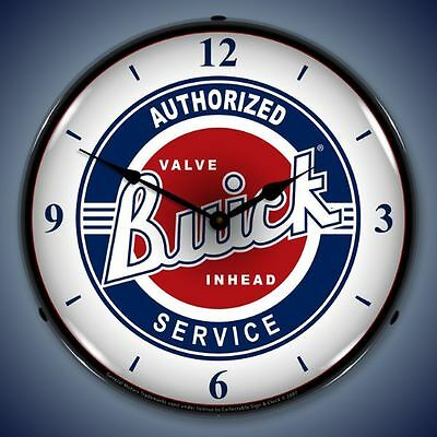 New 50's style LIGHT UP Buick Authorized Service Valve Inhead advertising clock