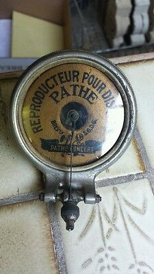 ANTIQUE FRENCH PATHE CONCERT PHONOGRAPH GRAMOPHONE REPRODUCER ca 1918 ? VICTROLA