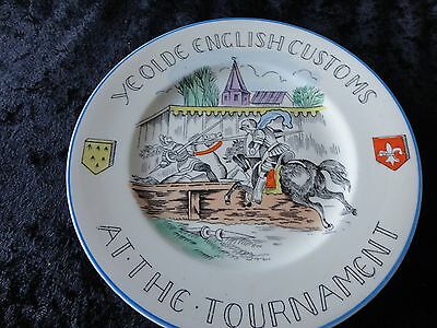 """Ye Old English Customs """"At The Tournament"""" Plate 6 inches."""