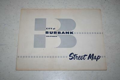 1975 Street Map of the City of Burbank Includes Parks Public Buildings & Schools