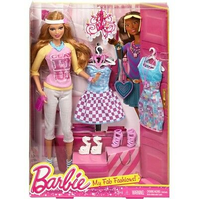 Barbie Summer Doll & with three outfits Fashion Pack Gift Set NIB