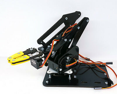 MeArm Black Deluxe Kit Robotic Arm - Servos, Structural Parts, Fasteners, MeCon