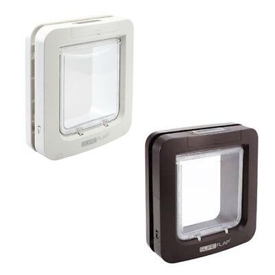 SureFlap Microchip Pet Door - Use MicroChip Or Tag Included - White/Brown
