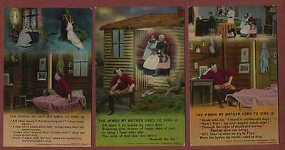 'Hymns my mother used to sing' 2,3 & 4   Bamforth song cards  postcards  qh164