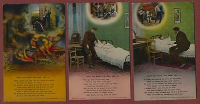 'Don't go down the mine dad' 1,2 & 4 Bamforth song cards  postcards  qh167