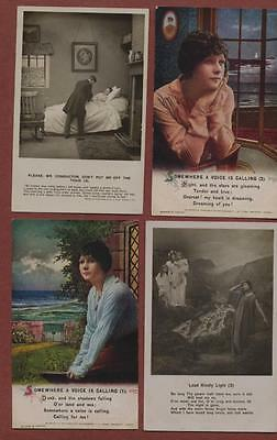 Bamforth song cards romance  postcards  qh169
