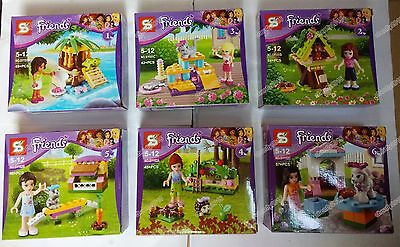 Hot 6 sets Friends Girl series building toys all new in plastic bags