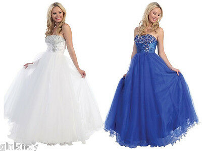 Long Evening Formal Party Ball Gown Prom Wedding Bridesmaid Dress 6-18