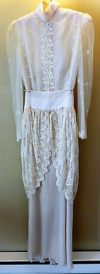 vintage 1915 Edwardian Lawn / Wedding Dress size Small