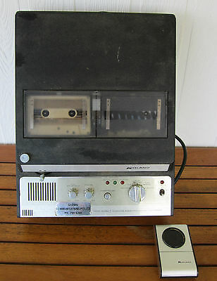 VINTAGE1970s ANSWERING MACHINE MIDLAND MODEL 80-650 DUAL CASSETTE WITH REMOTE