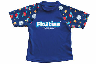 Boys Rocket Space Swimming Rash Vest/Rashie Protects Against Sun for Beach/Pool