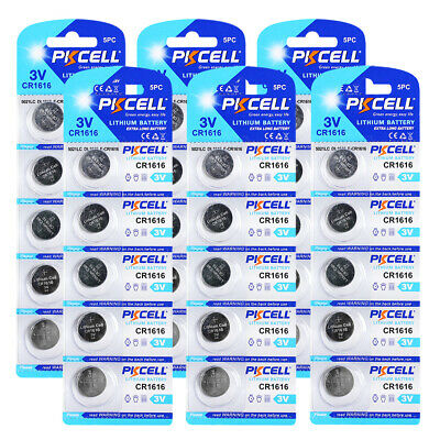 30PCS CR1616 ECR1616 CR 1616 3V Lithium Button Cell Battery PKCELL Free Shipping