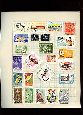Romania Album Page Of Stamps #V2855