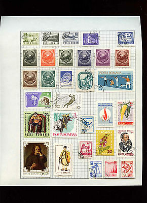 Romania Album Page Of Stamps #V2859