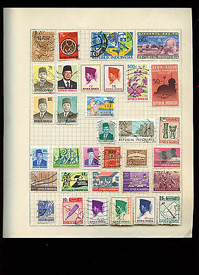 Indonesia Album Page Of Stamps #V2759