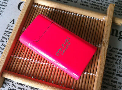 Pink Dolphine Metal Windproof Torch Jet Cigarette Lighter Smoking Set Butane Gas