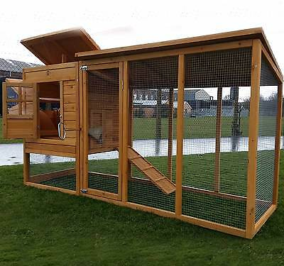 Large Chicken Coop Run Hen House Poultry Ark Home Nest Box Coup Coops 4000Xwr