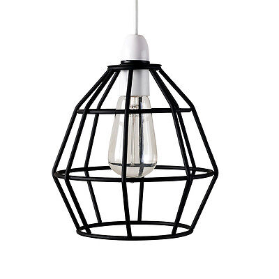 Black Vintage Industrial Style Cage Ceiling Pendant Light Lamp Shade Lights NEW