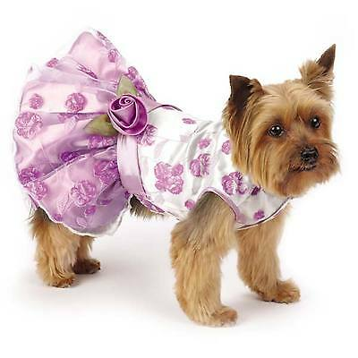 SMALL PURPLE DOG SPRING DRESS yorkie poodle maltese clothes S clothing CLEARANCE