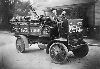 VINTAGE OLD ANTIQUE Coca Cola Delivery Truck Sales Advertising PIC Photo RARE