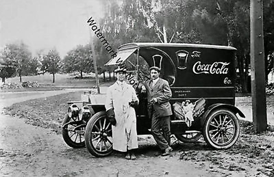 OLD ANTIQUE VINTAGE Coca Cola Delivery Truck Sales Advertising RARE PIC Photo