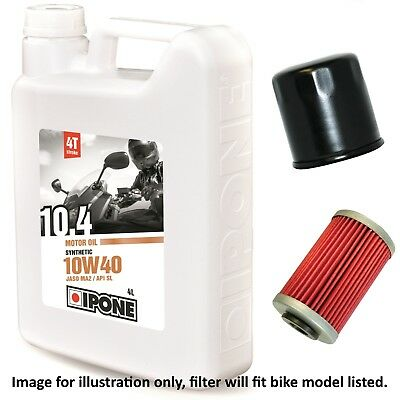 Yamaha XJ 550 J Maxim 1982 Ipone 10.4 10w40 Oil and Filter Kit