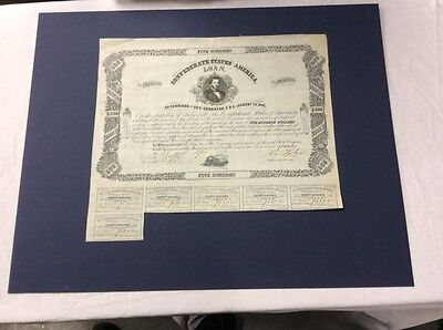 1861 - 1864 CONFEDERATE STATES OF AMERICA LOAN Bond $500 CA from Sotheby's