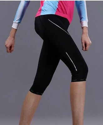 Women Outdoor Sports Cycling Gel 3D Padded Bike Bicycle Shorts Pants Tight S-XXL