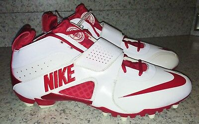 NIKE Zoom Huarache III 3 Lacrosse Cleats Shoes White Red NEW Mens Sz 15