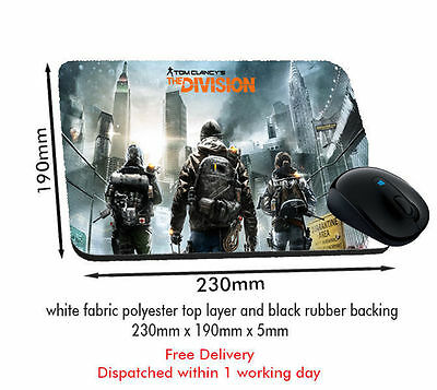 Tom Clancy's The Division Mousemat Free Postage Same Day Dispatch
