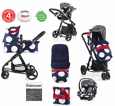New Cosatto Giggle Oh La La 3 In 1 Travel System Pushchair 0+ Carseat Carrycot
