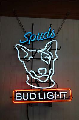 """**COOL**  BUD LIGHT """"SPUDS"""" -- NEON LIGHT -- LOCAL PICKUP ONLY"""