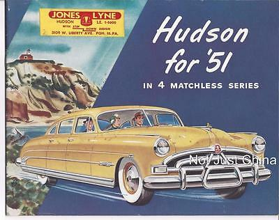 Vintage Hudson - 1951 Hudson,  32 Page Colored Brochure or Pamphlet