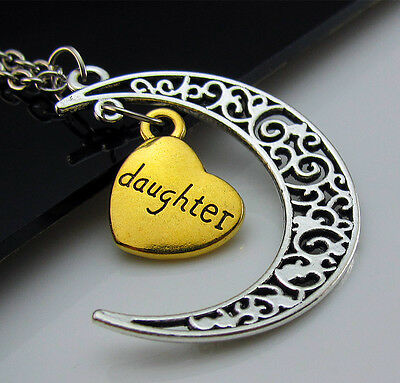 Lover Gift Family combination I LOVE YOU TO THE MOON AND BACK Pendant Necklace