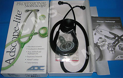 "ADC Adscope-Lite 609ST Stethoscope 22"" Tactical Stealth Ninja Black Professional"